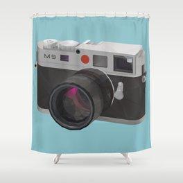 Leica M9 Camera polygon art Shower Curtain