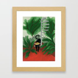 L'inconnu d'Hortus Botanicus Framed Art Print