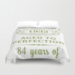 Green-Vintage-Limited-1933-Edition---84th-Birthday-Gift Duvet Cover
