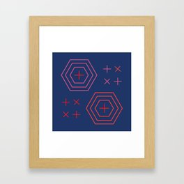 x + x + Framed Art Print
