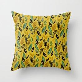 Celadon Leaves Throw Pillow