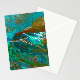 Earth by Noora Elkoussy Stationery Cards