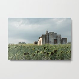 Abandoned house in the Pampa house in the Pampa. Metal Print