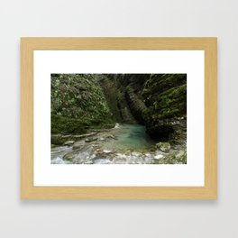 Soca River Gorge Framed Art Print