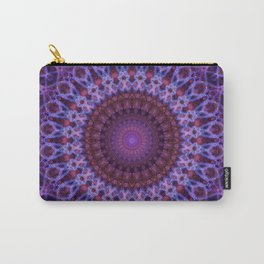 Mandala in blue,pink and purple tones Carry-All Pouch