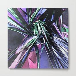Abstract Pop Art Structure Metal Print