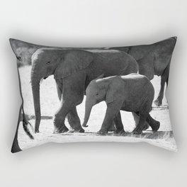 Mother and baby elephant Rectangular Pillow