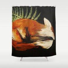 Fox Folk Shower Curtain