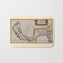 Map Of America 1679 Bath Mat