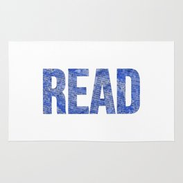 Read Dictionary Page Blue Rug