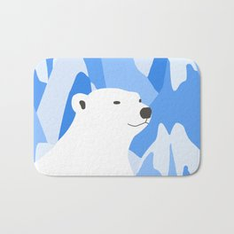 Polar Bear In The Cold Design Bath Mat