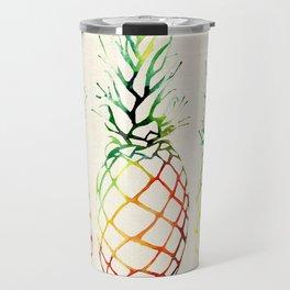 Burlap Pineapples Travel Mug