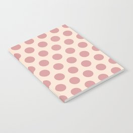 Dusty Rose Polka Dots 771 Notebook