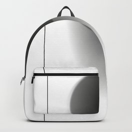 Abstract black sphere with shadow - Vector Backpack