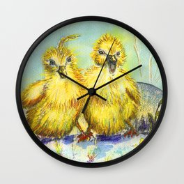Kleine Enten, small duck Wall Clock