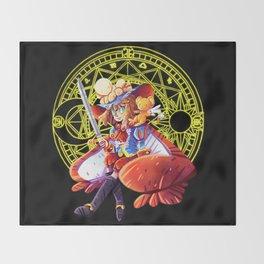 Prince Sakura Throw Blanket