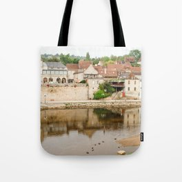 On the Banks of the Vézère River Tote Bag