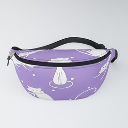 French Cats - Purple Fanny Pack
