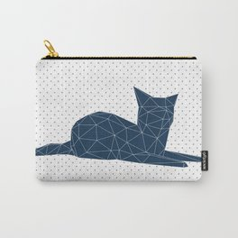 Faceted Cat Carry-All Pouch