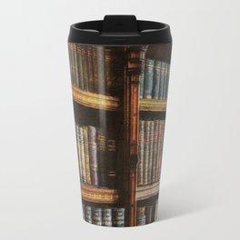 Knowledge - Antique Books on History & Law Travel Mug