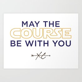 Purple & Gold: May the Course be With You Cross Country Art Print