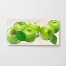 Remo Barbieri - Green Apples Metal Print