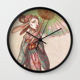 Bunny Geisha Wall Clock