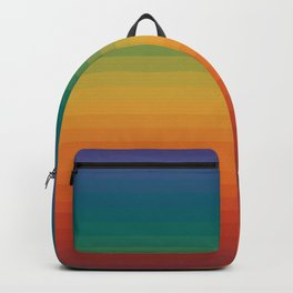 Colorful Stripes Abstract Rainbow Pattern Trendy Colors Backpack