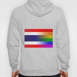 Gay Rainbow Wall Thai Flag Hoody