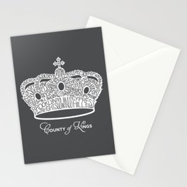 County of Kings | Brooklyn NYC Crown (WHITE) Stationery Cards
