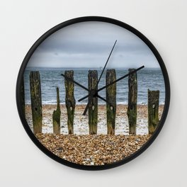 Southsea Seafront - Stumps! Wall Clock