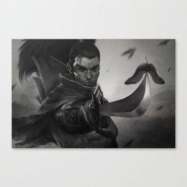 Yasuo Promo League of Legends Artwork Wallpaper lol Canvas Print