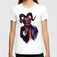 satan T-shirts featuring Uncle Satan by Zombie Rust