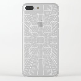Exploding Perspective Clear iPhone Case
