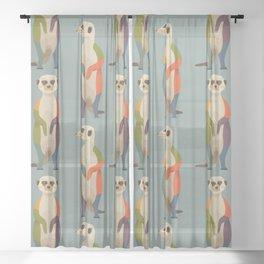 Meerkats Sheer Curtain