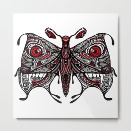 Demonic looking Moth that would look great as a lower back tattoo Metal Print