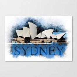 Sydney Opera Watercolor Canvas Print