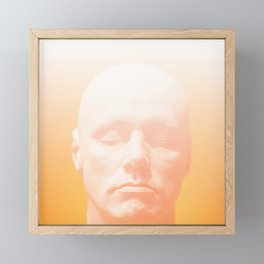 Thoughts orange Framed Mini Art Print