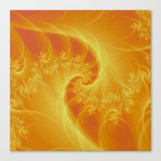 Orange Twist Canvas Print