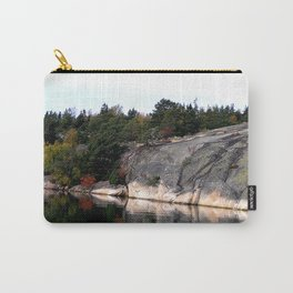 Fall Colors Accentuating Cliff Reflections Carry-All Pouch