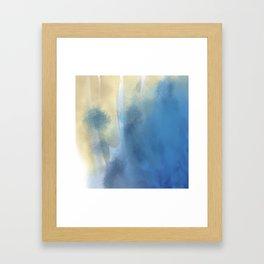 Gold and Blue Framed Art Print