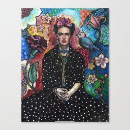 Frida Kahlo Portrait (4) Canvas Print