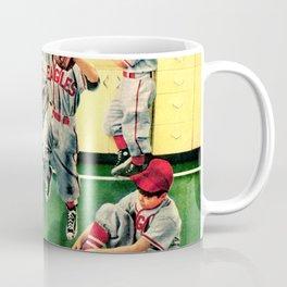 Retro Illustration Kids Playing Baseball Coffee Mug