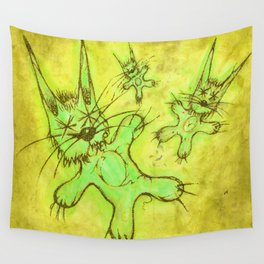 Record Cover for some Jazzed Rabbits, Yellowish. Wall Tapestry