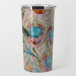 Peacock Pattern Mosaic art Travel Mug