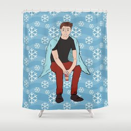 Winter Dean Winchester Shower Curtain