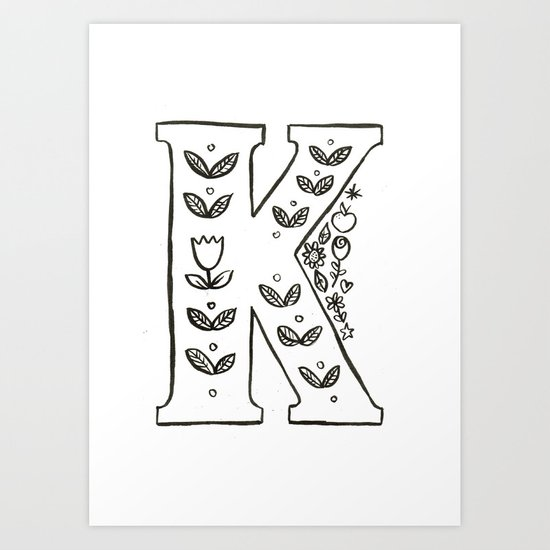 k is for Art Print