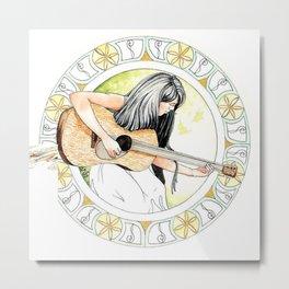 summertime guitar Metal Print