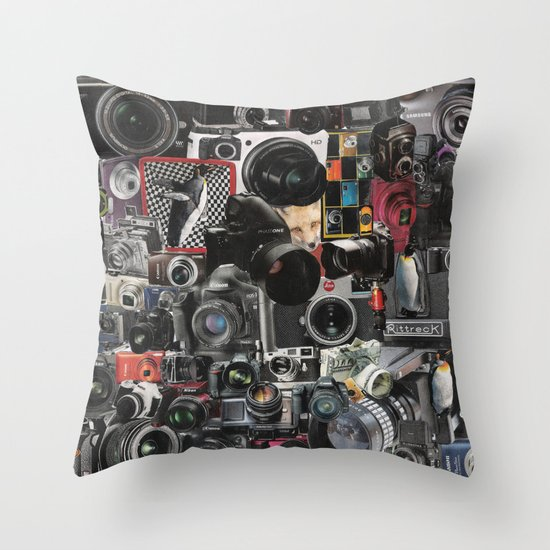 COLLAGE LOVE: How Do You See the World? Throw Pillow