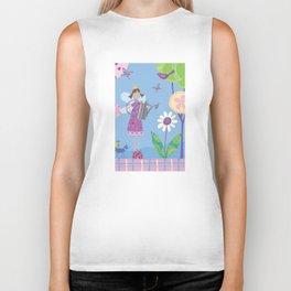 Fairy in the Garden Biker Tank